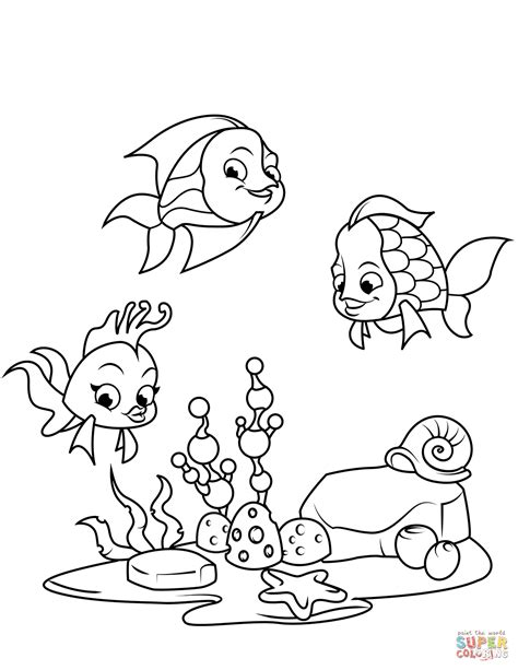 coral reef fish coloring page  printable coloring pages