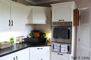 remodelaholic beautiful white kitchen update with chalk With kitchen colors with white cabinets with how to make facebook stickers