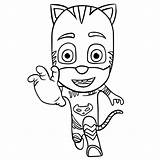 Coloring Pj Catboy Masks Pages Connor sketch template