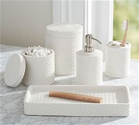 Bathroom Canisters & Accessories   Pottery Barn