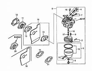Carburetor Diagram  U0026 Parts List For Model Gcv190labhh