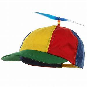 Adult Beanie Copter Helicopter Propeller Hat Ball Cap Clown Costume Accessory eBay