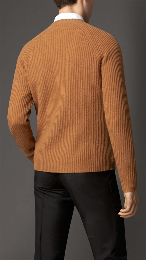 mens burberry sweater burberry lightweight sweater in orange for
