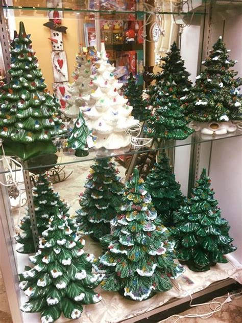 ideas  ceramic christmas trees  pinterest