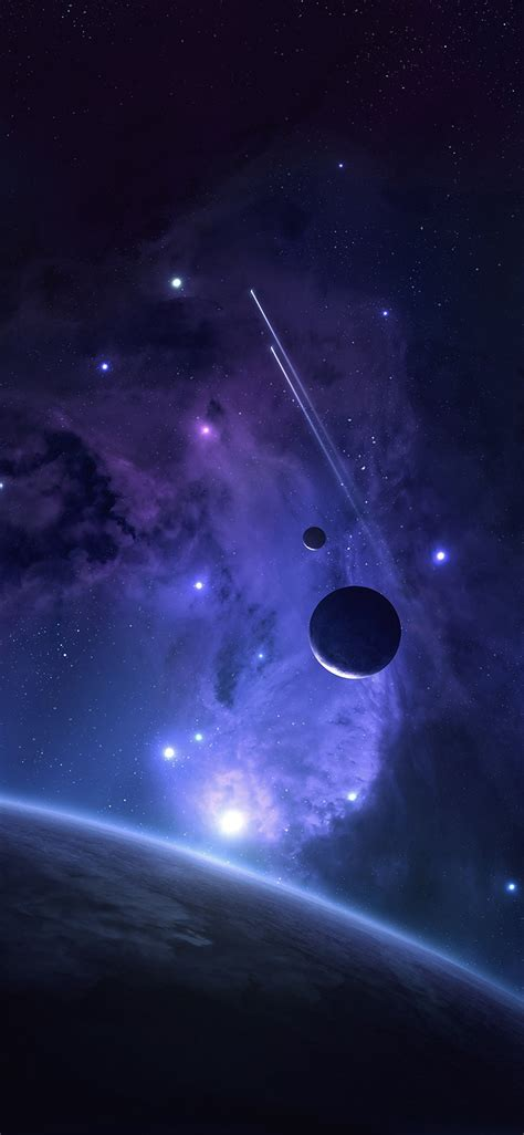 mj planets space abstract blue art wallpaper