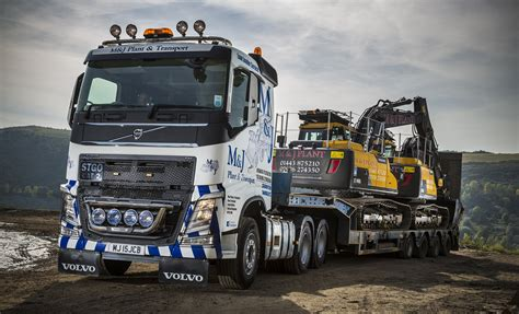 volvo transport truck first ever new truck for m j plant and transport is a