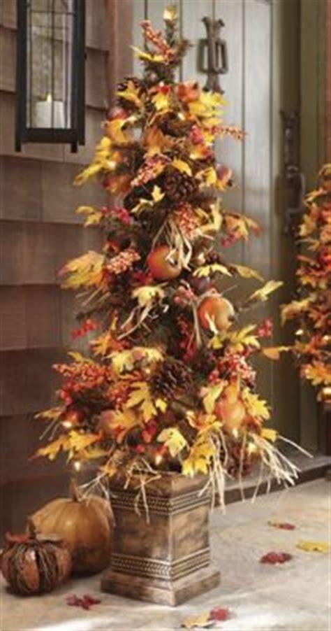 pre lit autumn harvest tree    country door
