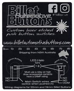 Billet Button Wiring Diagram    Wiring Diagrams 19mm And 22mm