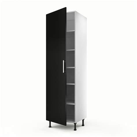peinture pour meuble cuisine meuble de cuisine colonne noir 1 porte délice h 200 x l 60 x p 56 cm leroy merlin