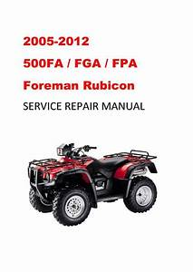 2005 Fga  Fpa Fourtrax Foreman Rubicon Manual