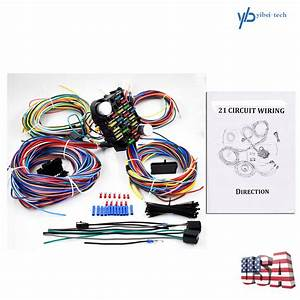 21 Circuit Wiring Harness For Chevy Mopar Ford Hotrods Universal X