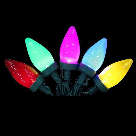 multi color changing led christmas lights lightshow 12 light led multi color color changing c9 light