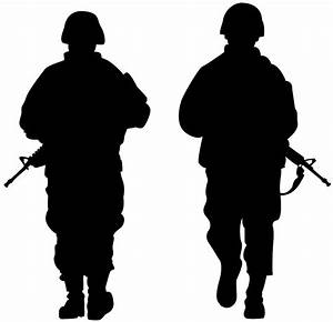 Army Soldiers Silhouette | Free vector silhouettes
