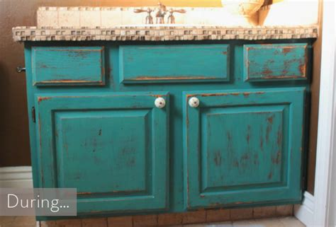 How To Make A Rustic Bathroom Vanity by Before After A Rustic Diy Oak Vanity Makeover 187 Curbly