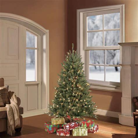 5 pre lit christmas tree puleo 4 5 ft pre lit fraser fir artificial christmas tree 6553