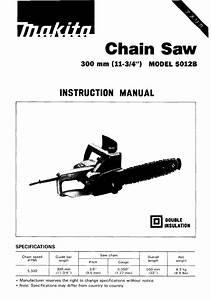 Makita Chainsaw 5012b User Guide
