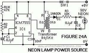 a plethora of ne 555 data ne555 tutorials page With neon circuit tester neon tube tester