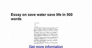water is life essay