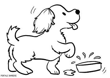 disegni  cani da colorare portale bambini