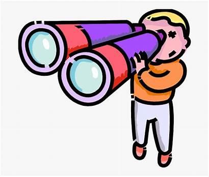 Binoculars Clipart Binocular Through Clip Boy Looks