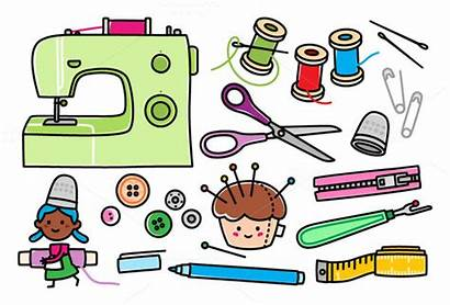 Sewing Clipart Clip Notions Supplies Collections Tools