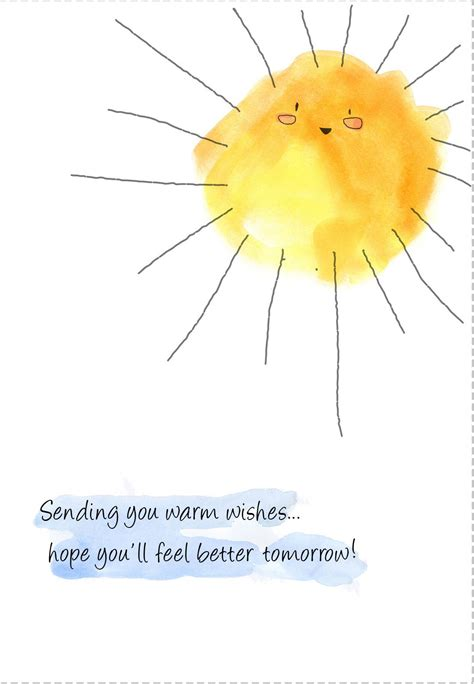 printable sunshine greeting card great  student