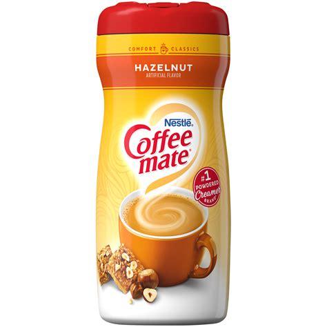 Sucralose, sugar, coconut oil, and water. Coffee-mate Coffee Creamer, Hazelnut, 15 oz (425.2 g ...