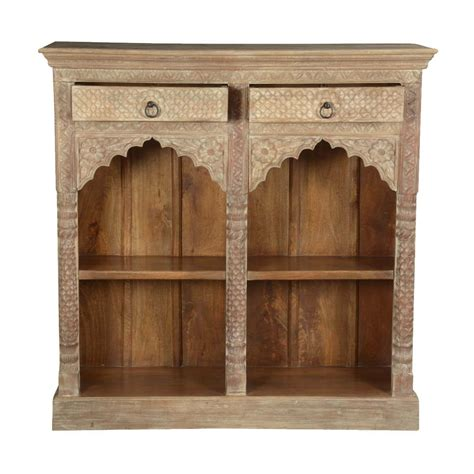 White Bookcase Cabinet by Scalloped Arches Winter White Mango Wood Open Bookcase Cabinet