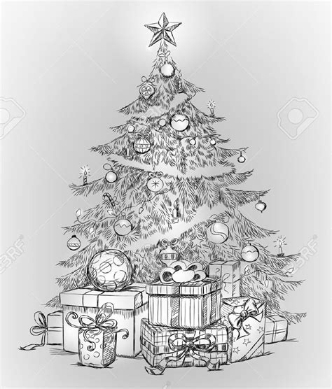 christmas pencil drawings  premium templates