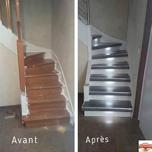 Renover Un Escalier En Bois : r novation escaliers bois renov 39 escaliers r novation d ~ Premium-room.com Idées de Décoration