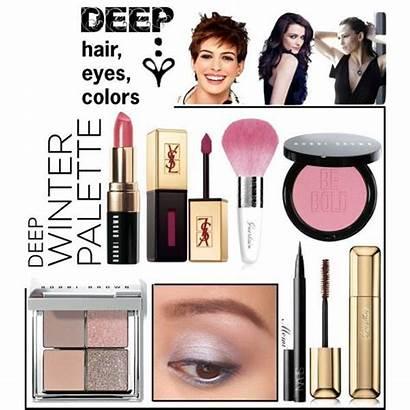 Winter Deep Dark Palette Makeup Colors Cool