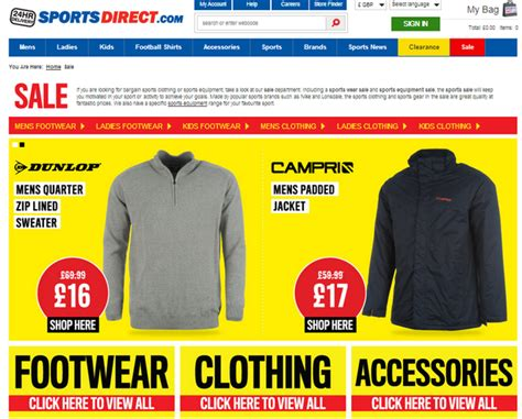 sports direct check   calls  action econsultancy