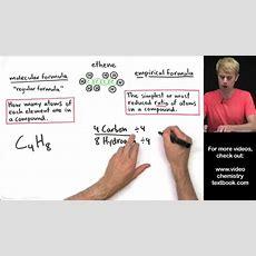 Empirical Formula And Molecular Formula Introduction Youtube