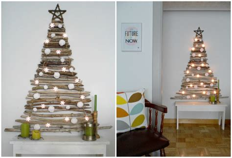creative christmas tree ideas  small spaces
