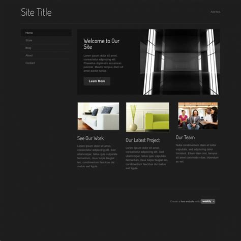 Create Website In Weebly Without Template by Weebly Website Templates Template Business