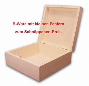 Cd Box Holz : b ware quadratische holzbox aufbewahrungsbox holz schachtel linde unbeh sonderangebote ~ Whattoseeinmadrid.com Haus und Dekorationen
