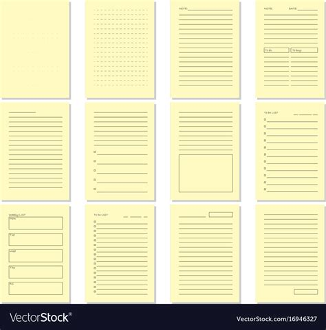blank beige notebook page template royalty free vector