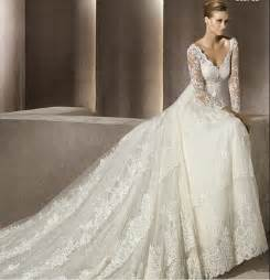 fall lace wedding dresses with sleeves sang maestro