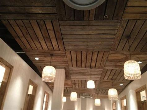 Best Drop Ceilings For Basement by 1000 Ideas About Pallet Ceiling On Basement