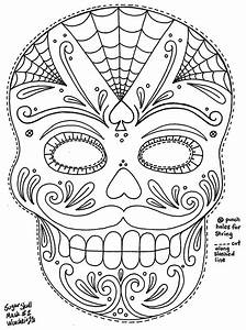 crafts on pinterest sugar skull coloring pages and bulbs With day of the dead skull mask template