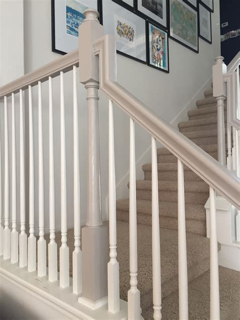 Banister Railings by How I Used Chalk Paint To Update My Bannister