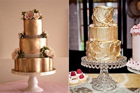 metallic gold cakes cake geek magazine