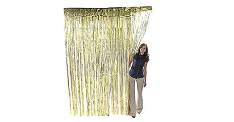 Metallic Gold Foil Fringe Shiny Curtains For Party White Blackout And Thermal Curtain Lining Fabric By The Metre Bed Bath Linens Curtains Croydex Shower Rail Argos Larry S Manila Color For Small Living Room Lined Sheer Uk 120 Long Eminem Call Itunes Zip