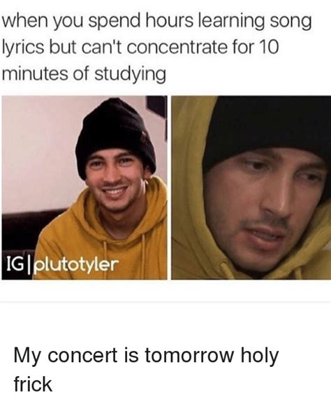 Song Lyric Memes - 25 best memes about concentrating concentrating memes