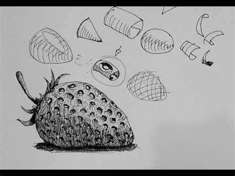 ink drawing tutorials   draw  strawberry
