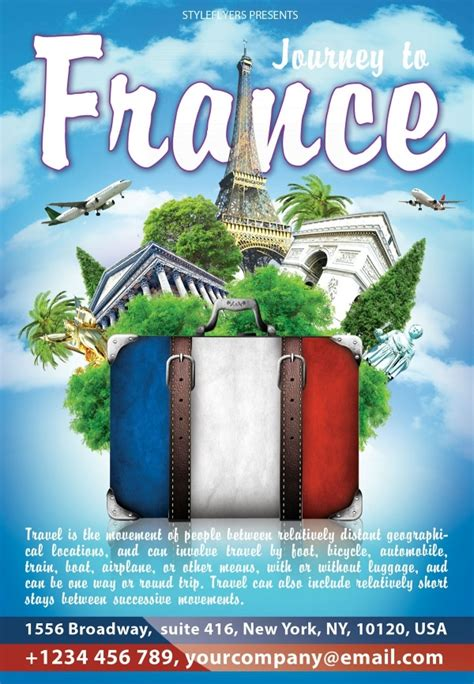 attractive travel flyer templates creatives word