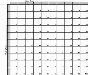 8 best images of super bowl football squares printable for Super bowl box template