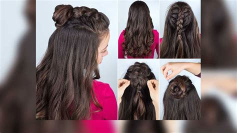 How To Weave A Half Up Braided Top Knot Loréal Paris