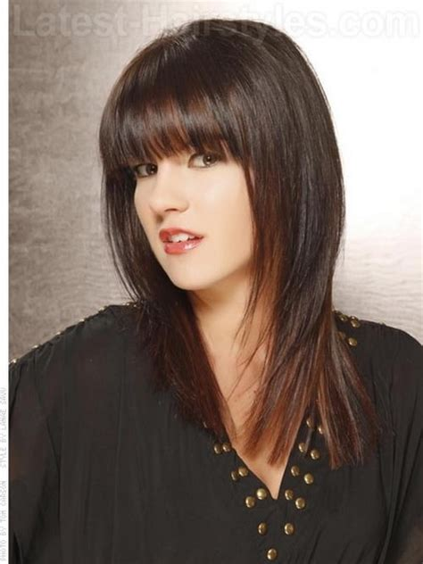 hairstyles for medium hair with fringe medium length hairstyles with fringe