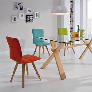 duo de chaises turquoise kano univers salle a manger With salle À manger contemporaineavec chaises colorees